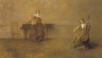 Thomas Wilmer Dewing, Pieśń i skrzypce, 1921